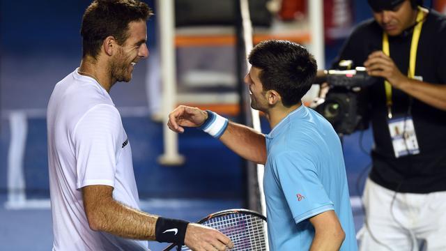Djokovic in drie sets te sterk voor Del Potro, ook Nadal verder