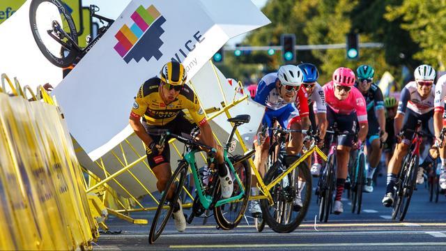 De afschuwelijke val in de Ronde van Polen.