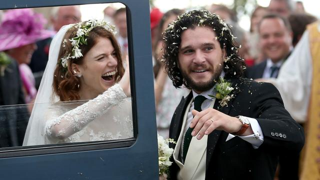 Kit Harington en Rose Leslie getrouwd in Schotland