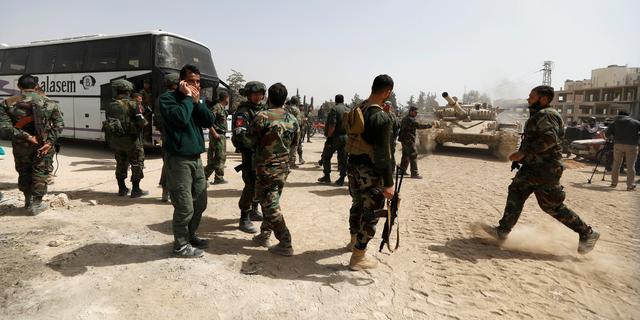 Rebellen verlaten Oost-Ghouta na overeenkomst Syrische regering