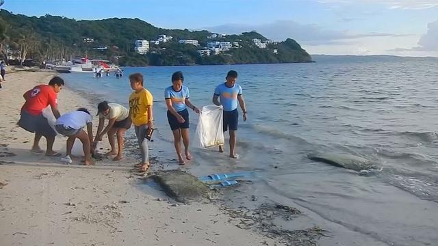 Filipijnen maken gesloten vakantie-eiland schoon