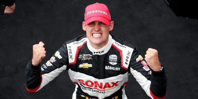 Van Kalmthout schrijft historie met eerste zege in IndyCar Series