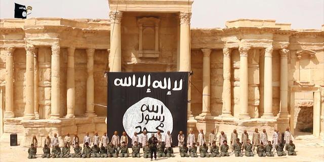 IS vernielt Romeinse tempel Palmyra