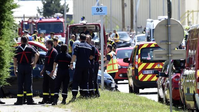 Onthoofding bij aanslag op fabriek in Frankrijk