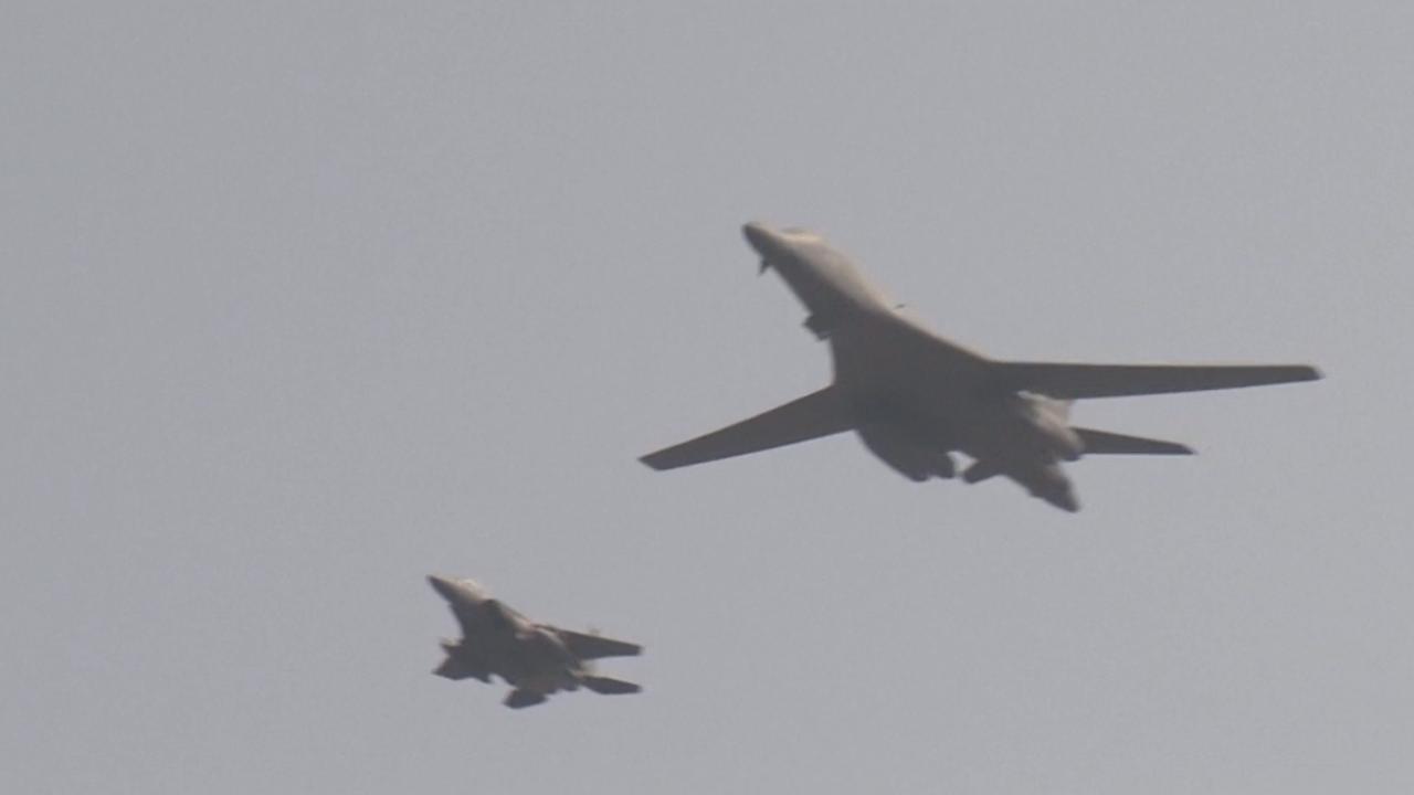 Amerikanen vliegen met bommenwerpers bij grens Noord-Korea