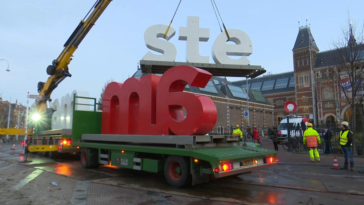Beroemde letters 'I amsterdam' verwijderd van Museumplein