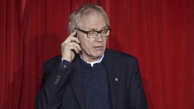 Vilks tijdens een een discussie over de vrijheid van meningsuiting in Helsinki in 2015.
