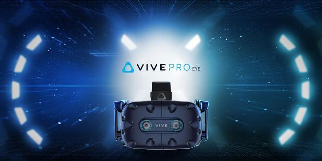 HTC onthult nieuwe Vive Pro-virtualrealitybril met oogtracking