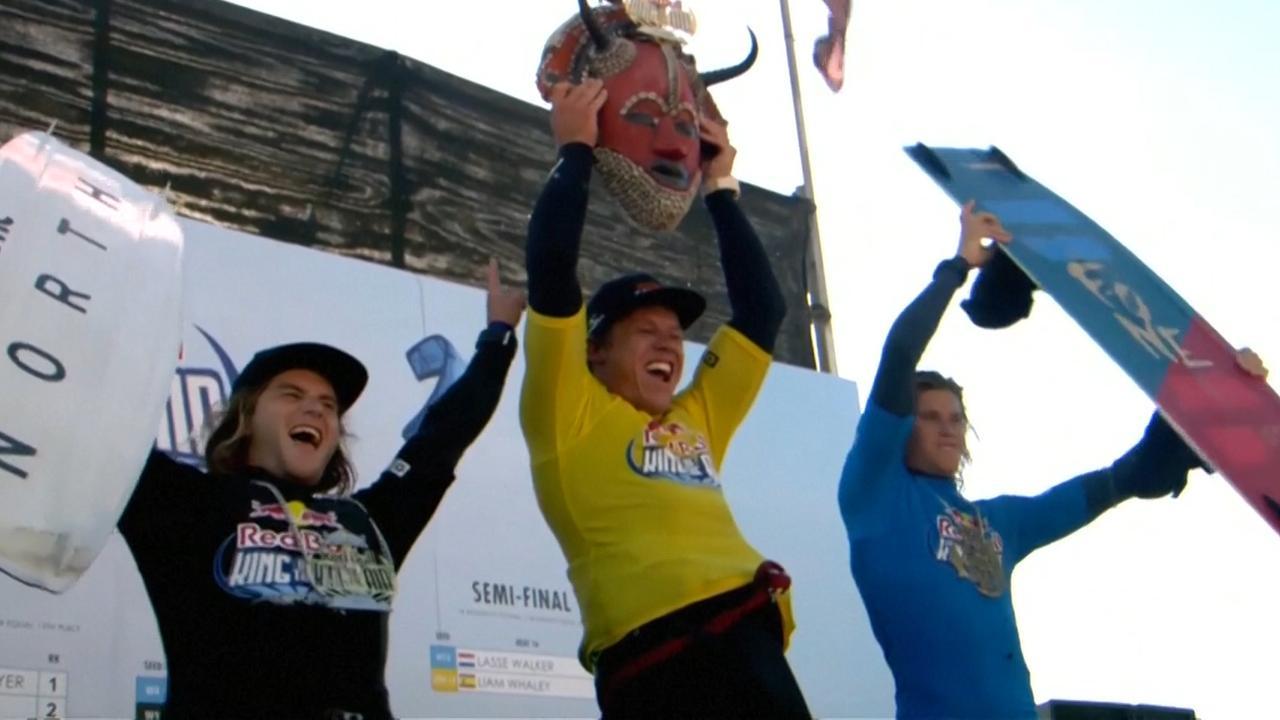 Nederlandse kitesurfer Langeree wint King of the Air-toernooi