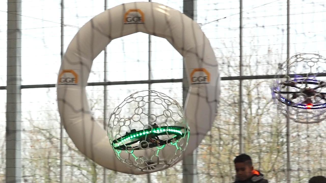 Eerste Drone Soccer-wedstrijd ooit gespeeld in Nederland