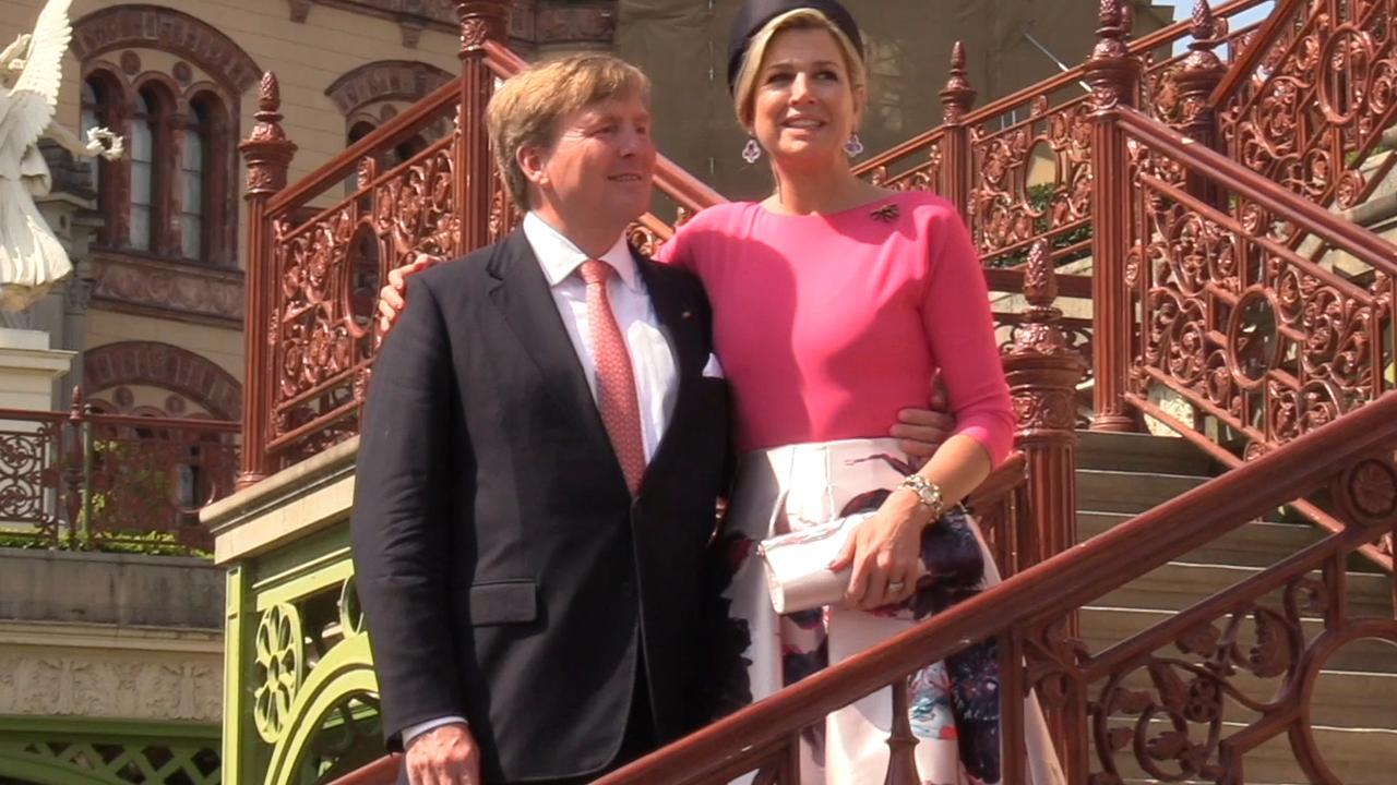 Willem-Alexander en Máxima bezoeken Duitse stad Schwerin