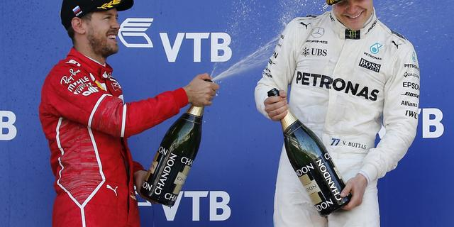 Realistische Vettel vindt dat Bottas zege in Rusland verdiende