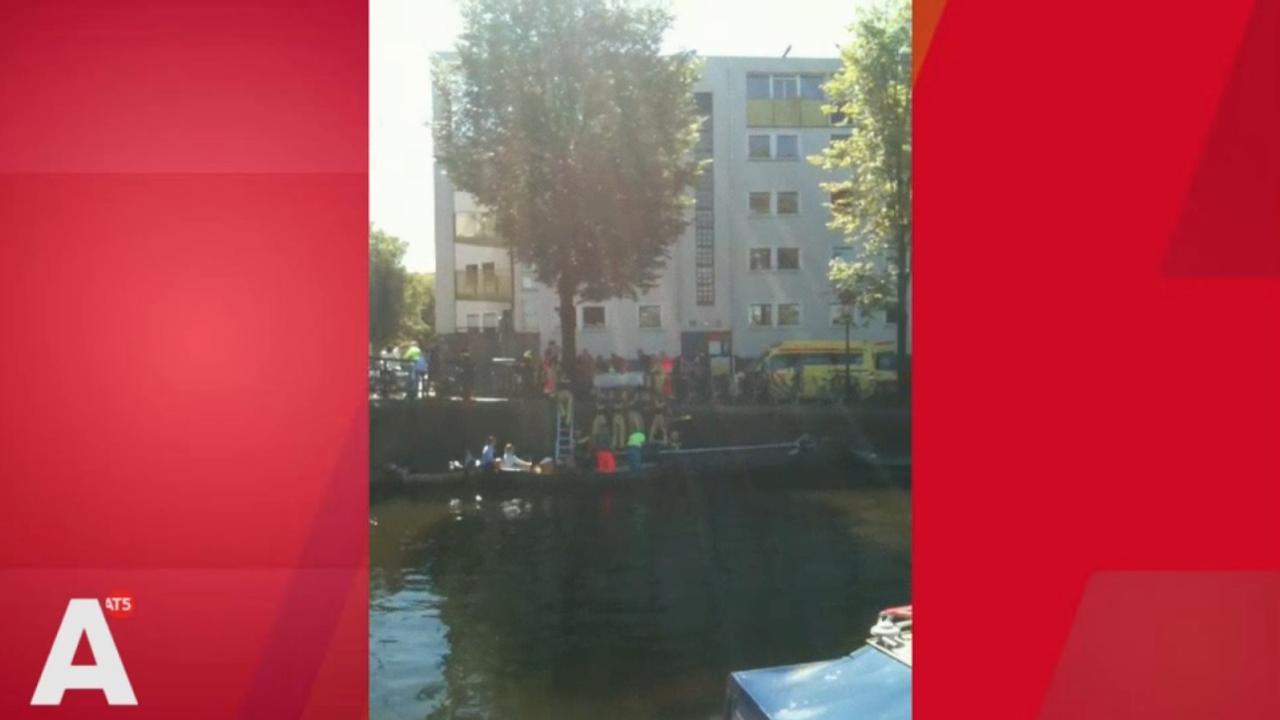Drenkeling uit water gehaald bij Jacob van Lennepkade