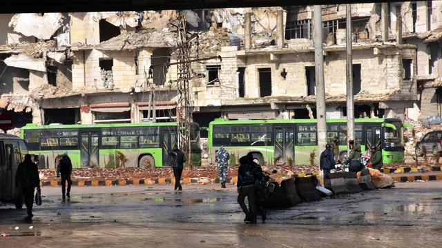 Evacuatie van Aleppo volgens Syrische leger voltooid