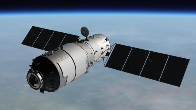 Chinees ruimtestation Tiangong-2 uit baan om de aarde gehaald