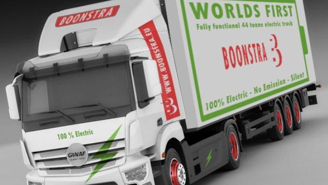 Groningen krijgt eerste compleet elektrische vrachtauto