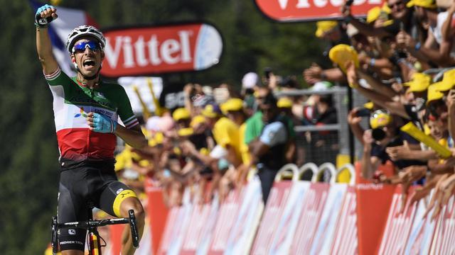 Italiaan Aru wint eerste bergrit in Tour, Froome pakt geel