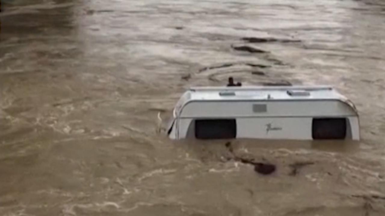 Caravan meegesleurd door overstroming in Zuid-Frankrijk