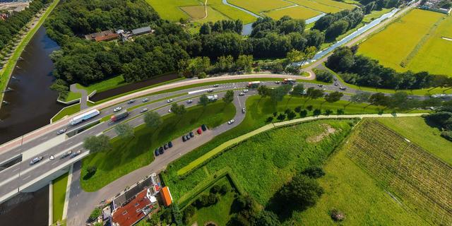 Bouw van nieuwe viaduct over Europaweg in Groningen is gestart