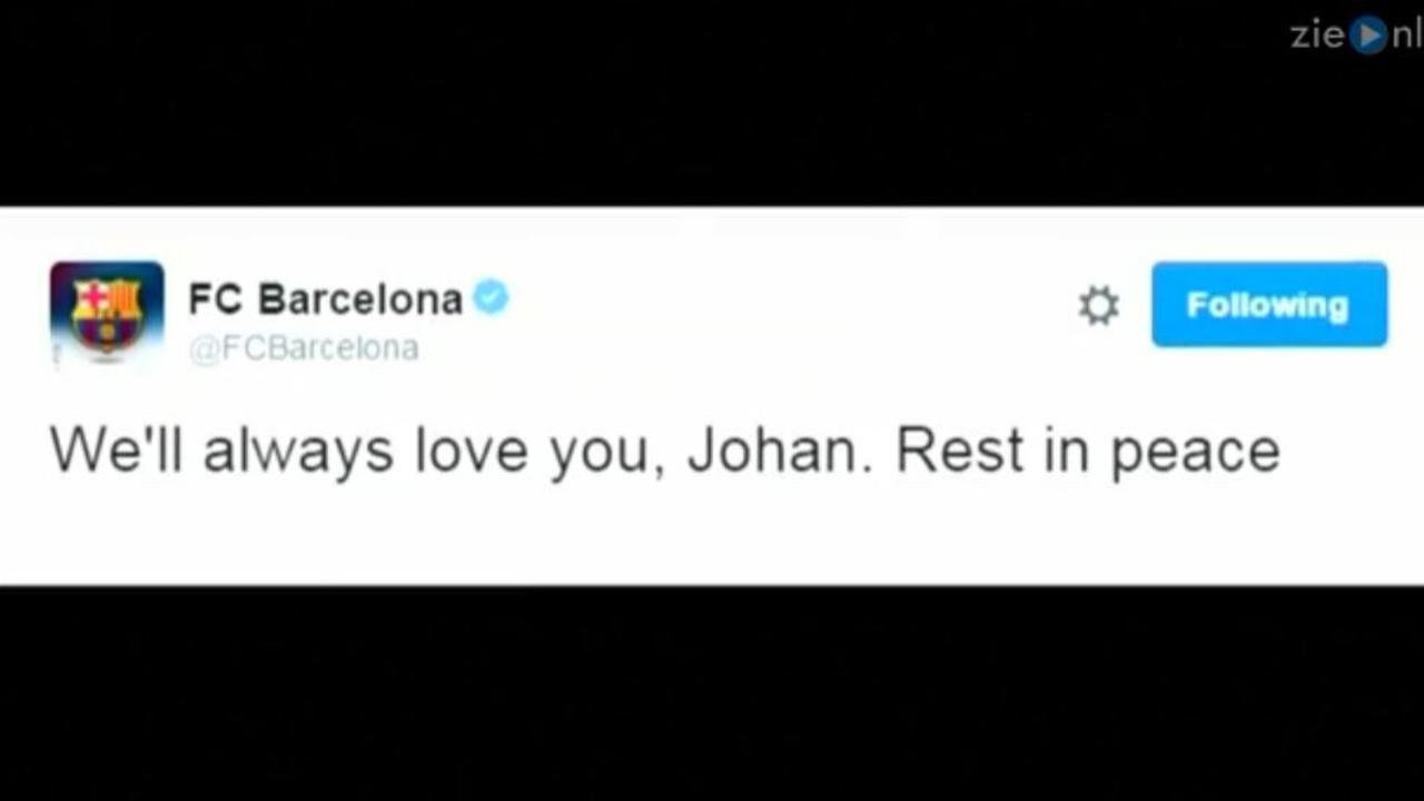 Voetbalwereld reageert geschokt op overlijden Cruijff