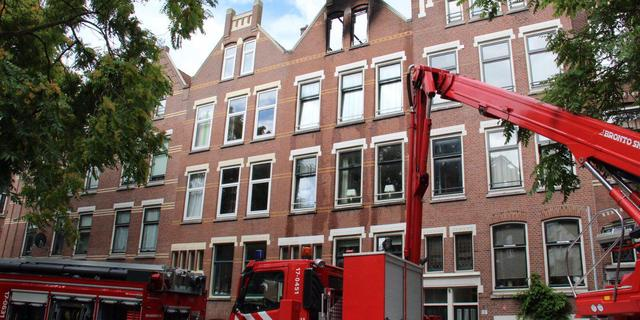 Gewonde man uit brandende woning Rotterdam overleden
