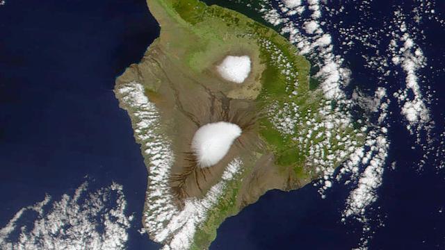 Uitzonderlijk veel sneeuw op vulkaantoppen Hawaï
