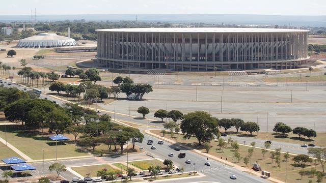 Het Estádio Nacional de Brasília is een van de stadions waar wedstrijden op de Copa América worden gespeeld.