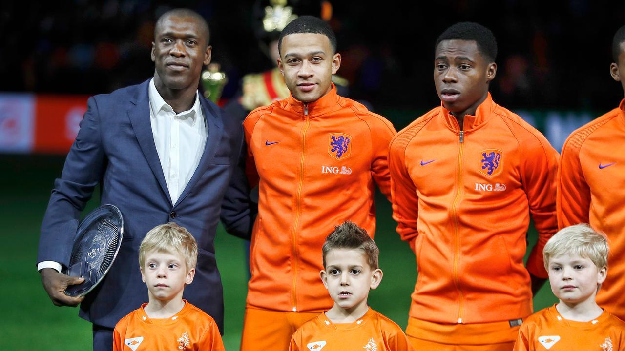 Oranje neemt afscheid van Seedorf voorafgaand aan oefeninterland