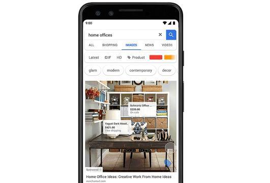 Google test advertenties tussen zoekresultaten van afbeeldingen