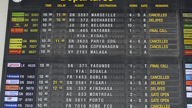 Weinig hinder door stiptheidsacties vliegveld Brussel