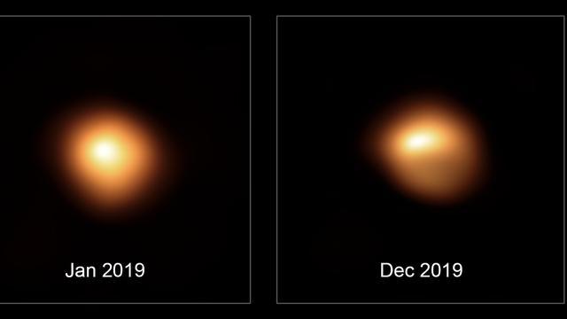 Dimmende ster Betelgeuze verandert van vorm