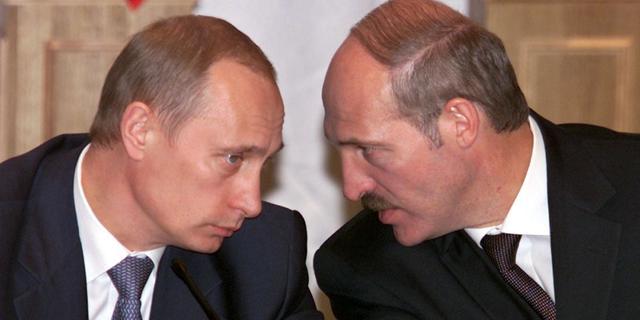 Poetin en Loekasjenko gaan conflict proberen bij te leggen