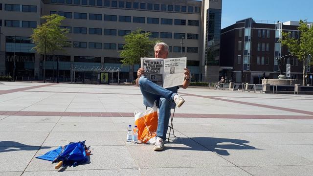 Pegida-demonstratie met vijf deelnemers op Stadhuisplein verloopt rustig