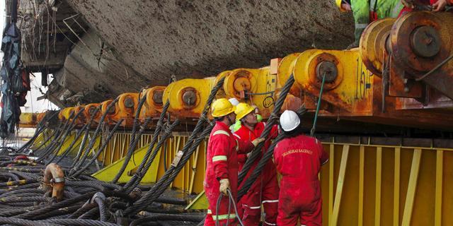 Toch geen menselijke resten gevonden bij berging rampschip Zuid-Korea