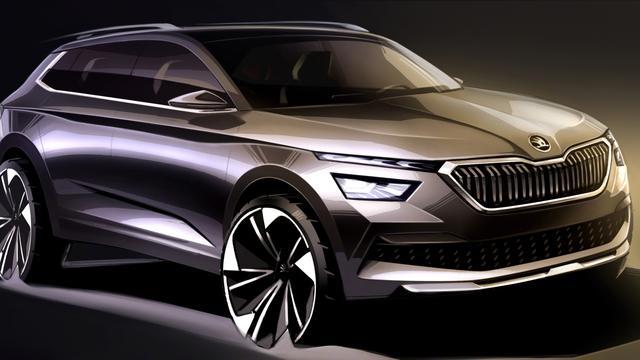 Skoda toont schetsen van nieuwe compacte SUV