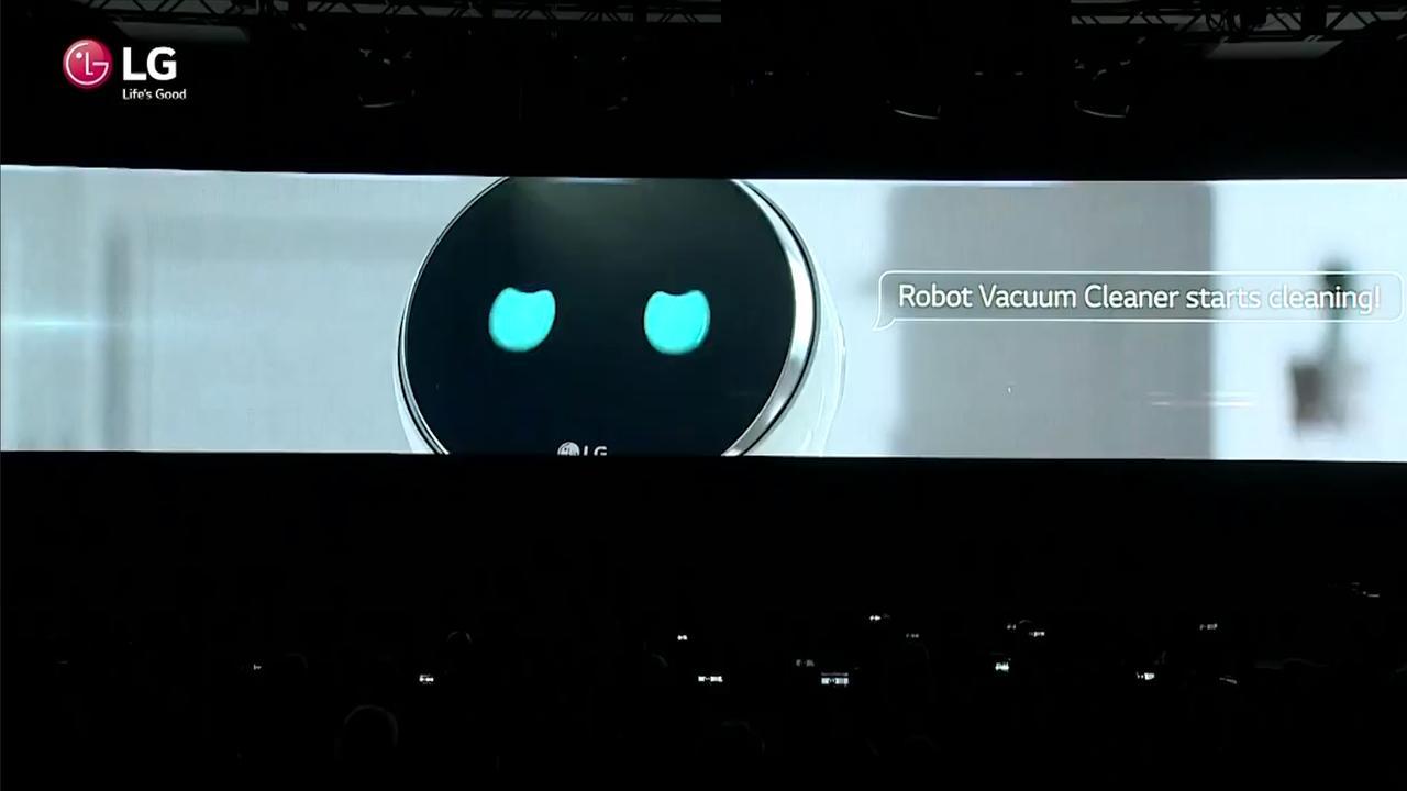 LG toont rondrijdende huishoudelijke robot