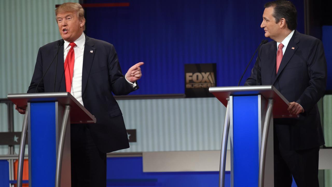 Trump valt Cruz aan op geboorte in Canada in debat Republikeinen