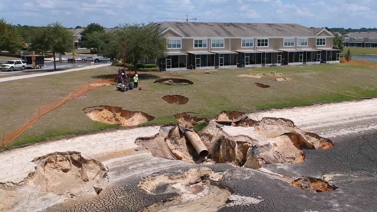 Buurt in Florida geëvacueerd na vorming van twaalf sinkholes