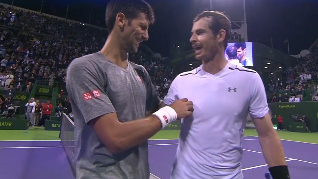 Djokovic verslaat Murray en pakt titel in Doha