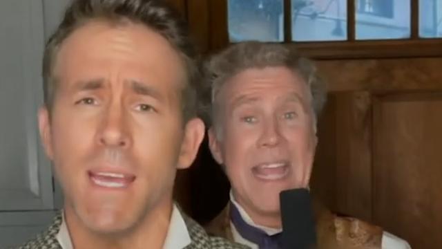 Ryan Reynolds en Will Ferrell zingen Grace Kelly op filmset