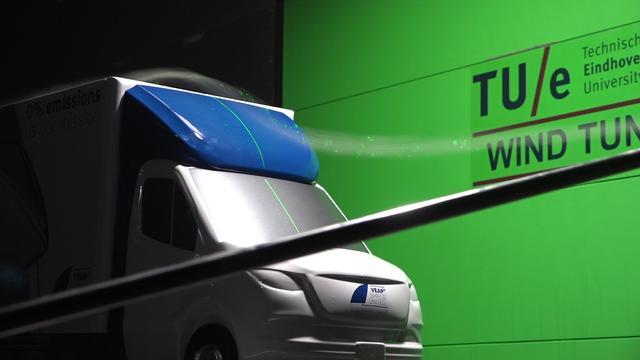 TU Eindhoven test aerodynamica in eigen windtunnel