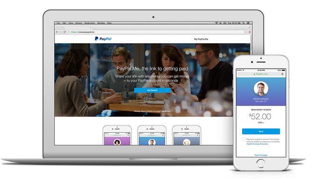 Paypal geeft gebruikers profielpagina om geld te ontvangen