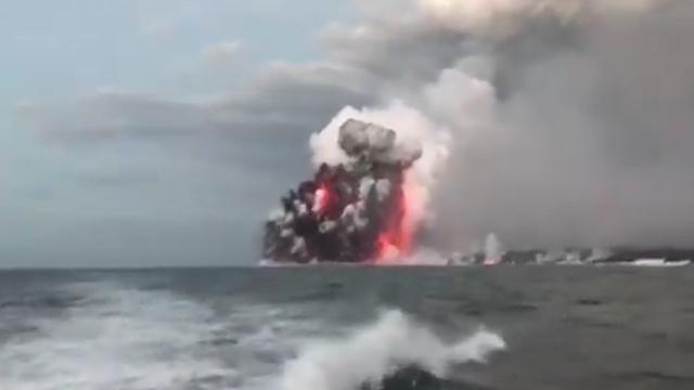 'Lavabom' van vulkaan Kilauea op Hawaï verwondt 23 mensen