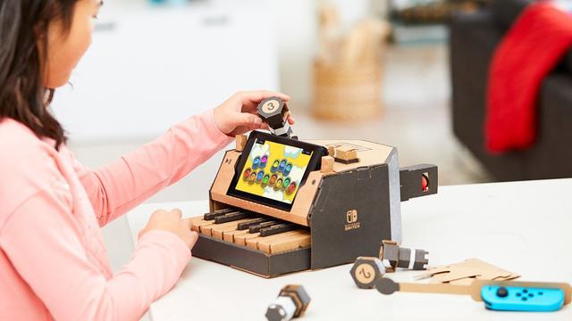 Nintendo kondigt kartonnen speelgoed voor Switch aan