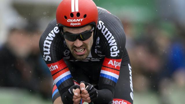 Dumoulin loopt winst in proloog Ronde van Romandië mis