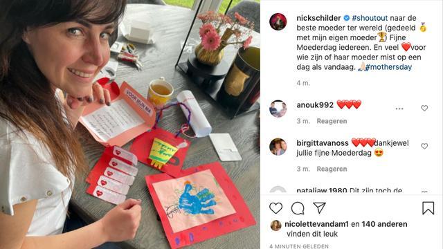 Nick Schilder zet zijn vrouw Kirsten in het zonnetje. De vrouw van de helft van zangduo Nick & Simon mag de eretitel 'beste moeder ter wereld' delen met zijn eigen moeder. (Foto: Instagram/Nick Schilder)