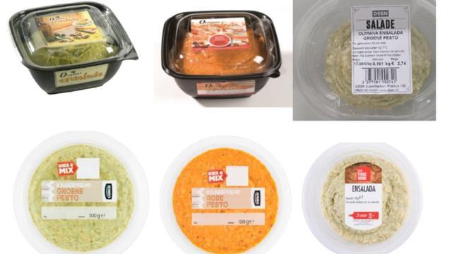 Kaas- en pestospreads uit schap om salmonella