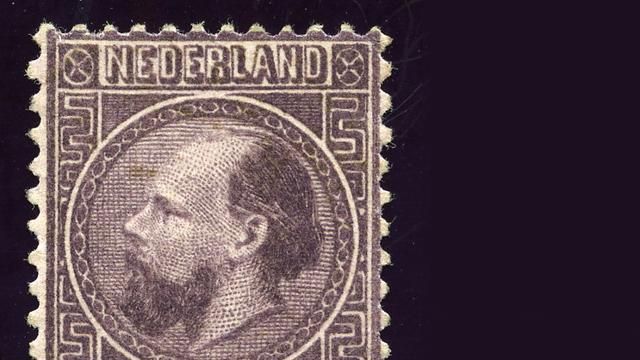 Nederlandse postzegel uit 1867 geveild voor 102.000 euro