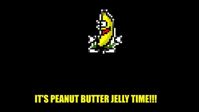 The dancing banana from the song 'Peanut Butter Jelly Time'.