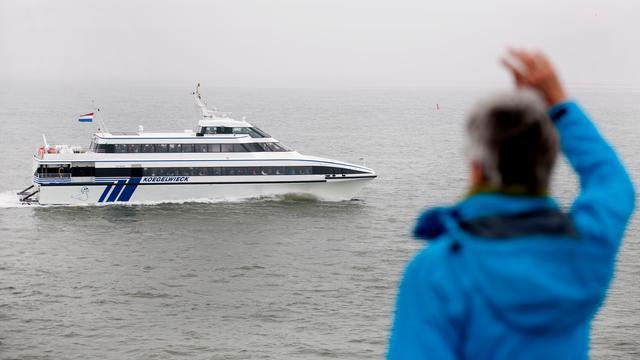 Veerboot tussen Terschelling en Harlingen weer losgetrokken
